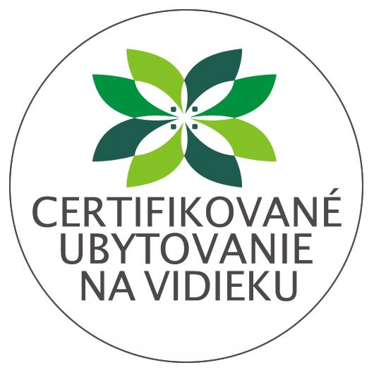 Certifikované ubytovanie na vidieku